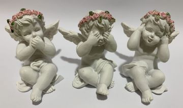 Cherub Set PINK HEAR SEE SPEAK NO EVIL (Set of 3) 76609